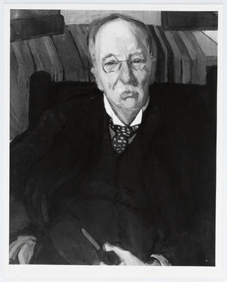 """Photograph of painting """"Portrait of my Uncle"""" by Edith Collier."""