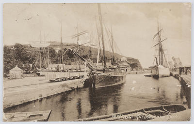 Postcard of Pentewan Harbour to Edith Collier.