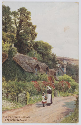 J. Salmon, Sevenoaks; Edith Collier; Postcard of a cottage in Ilfracombe, from Edith Collier to Reg Collier.; Unknown; A2015/1/84