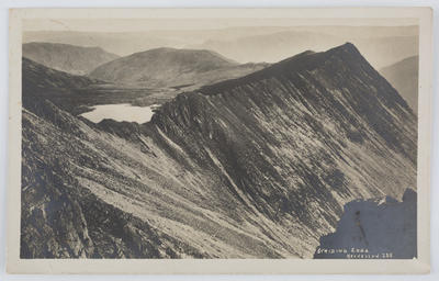 "Postcard of ""Striding Edge"" Helvellyn, to Edith Collier."