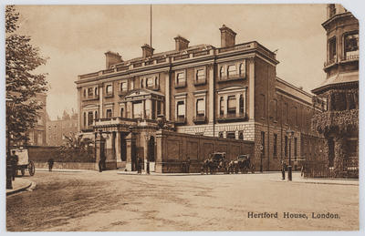 Postcard of Hertford House, London. From Edith Collier to Dorothy.