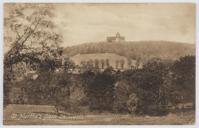 F. Frith & Co. Ltd, Reigate; Edith Collier; Postcard of St Martha's, Chilworth, Surrey from Edith Collier to her mother.; Unknown; A2015/1/100