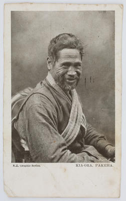 Postcard of a Maori man, to Edith. Possibly from Margaret Preston.