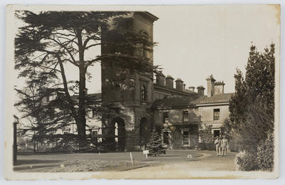 Unknown; Postcard of No. 2 New Zealand General Hospital Walton on Thames to Edith Collier.; Unknown; A2015/1/105