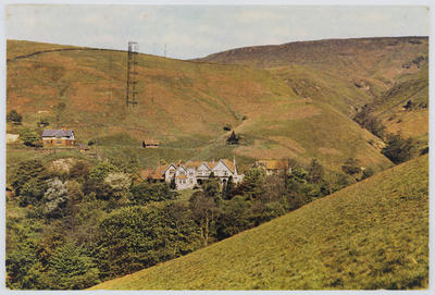 "Postcard of ""Rowland Cote"", Derbyshire, from John Hardy to Edith Collier."