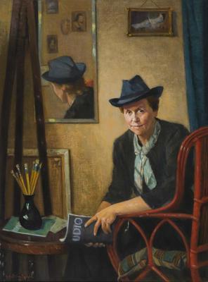 Antonio Datilo Rubbo; Portrait of Miss Frances D. Ellis, Artist 1947.; 1947; 1977/3/1