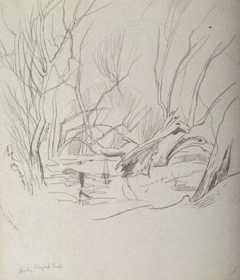 "Study for the oil painting ""Cayley's Pond"" c. 1949"