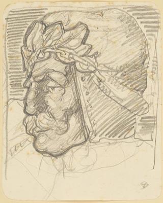 Vivian Smith; Untitled (Head study); 1913-1928?; 1988/27/591