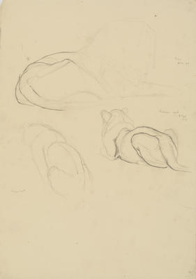 Vivian Smith; Untitled (Lion and female cub); 1913-1917?; 1988/27/472