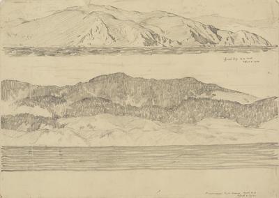 Vivian Smith; Untitled (Lyall Bay, Wellington and Pencarrow, Wairarapa); 02 Apr 1914; 1988/27/487