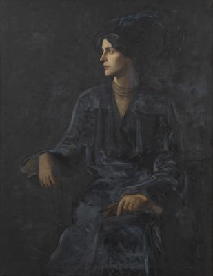A Portrait (The Blue Feather)