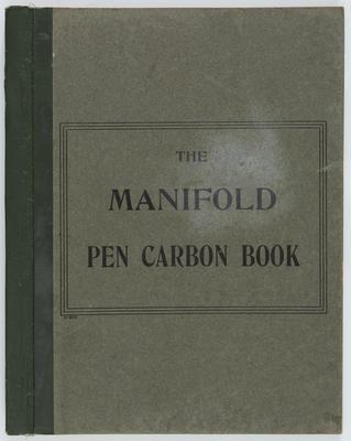 [Letter Copy Book - 1915-1923]
