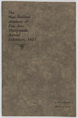 NZ Academy of Fine Arts; Harry H Tombs Limited; The New Zealand Academy of Fine Arts Thirty-ninth Annual Exhibition, 1927; 1927; A2015/4/25