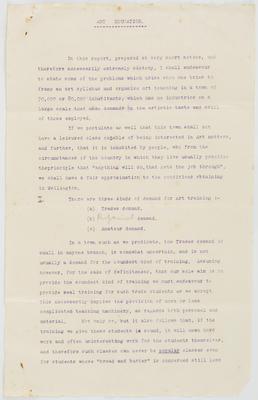 Vivian Smith; [Manuscript, Art Education]; 1913-1931?; A2015/4/35