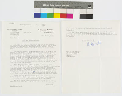 Becke, Green & Stops Solicitors; [Letter, Becke, Green & Stops Solicitors to Lilian Smith]; 11 Mar 1959; A2015/4/40