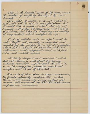 Vivian Smith; [Notes, Vivian Smith]; 1910s-1940s?; A2015/4/87