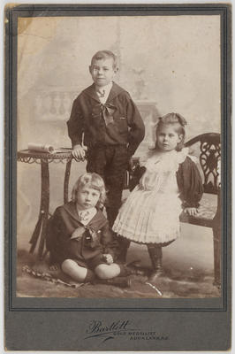 W H Bartlett Photographer; [Photograph, Portrait]; Circa 1900?; A2015/4/107