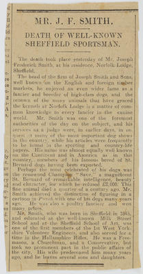 [Newspaper cutting, Mr F. J. Smith]; 24 Jul 1915; A2015/4/131