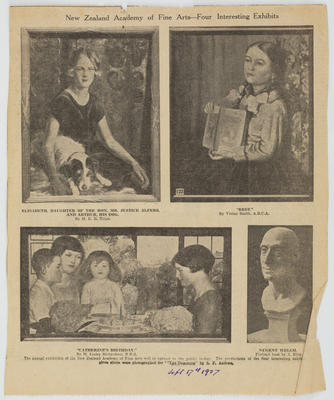 The Dominion; [Newspaper cutting, New Zealand Academy of Fine Arts - Four Interesting Exhibits]; 17 Sep 1927; A2015/4/139