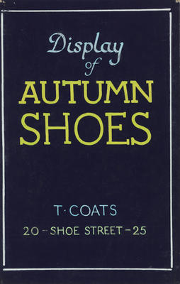 Untitled (Display of Autumn Shoes)