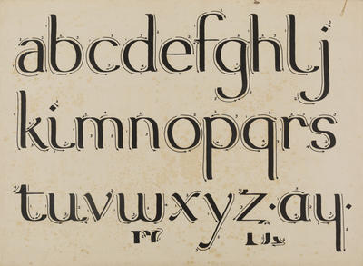 Untitled (Lower case script)