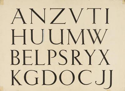 Untitled (Upper case script)