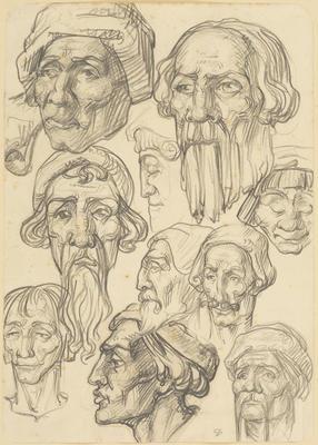 Untitled (Head studies)