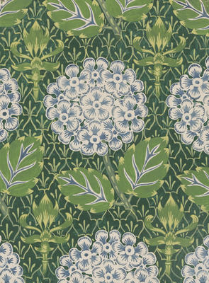 Untitled (Hydrangea wallpaper design)