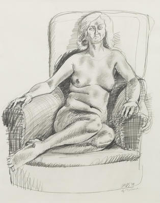 Michael Smither; Figure Study (of Diana); 1970; 2020/1/1