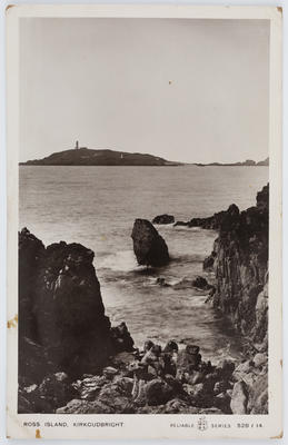 """W R & S Reliable Series; Edith Collier; Postcard titled """"Ross Island, Kirkcudbright"""" from Edith Collier to her father.; Unknown; A2015/1/133"""