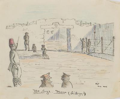 The cage Derna (Libya)