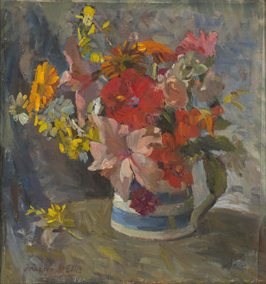 A Souvenir Pot of Flowers for Aida