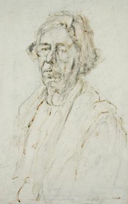 Frances Ellis; Untitled (Portrait of a Woman); Post 1930; 1980/11/9