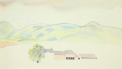 Rita Angus; Hawkes Bay Landscape; Circa 1950; 1982/19/1