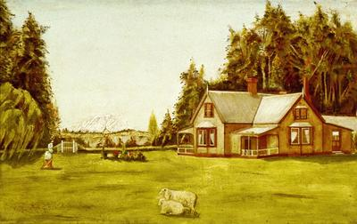 Henry Sarjeant's Home on his Sheep Station