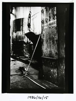 Anne Noble; Graffiti - Char Pulling Floor - The Char End. Chelsea Sugar Refinery, Auckland 1984; 1984; 1984/14/9.7