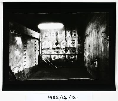 Anne Noble; Graffiti - 'Malaka Māori Boy' - The Char End, Chelsea Sugar Refinery, Auckland '84; 1984; 1984/14/9.13