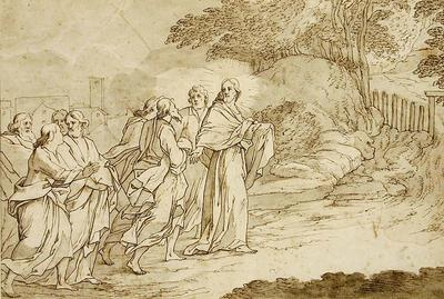 Bernadino Poccetti; Italian School; On the Road to Gethsemane; 17th Century; 1922/1/2