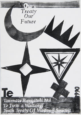 'Our Treaty Our Future' poster mock up