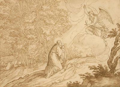 Bernadino Poccetti; Italian School; In the Garden of Gethsemane; 17th Century; 1922/1/3
