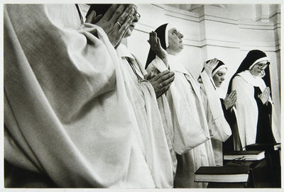 Anne Noble; The Our Father is chanted aloud by the Superior, each day at the end of Lauds and Vespers; 1988; L1991/23/16