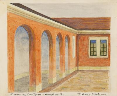 Corner of courtyard Bungalour 5 Modena
