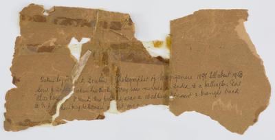 "[torn fragments from ""John Smith..."" photo"