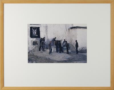 Hamish Horsley; Workers mixing whitewash, Potala Palace, Lhasa, 1987; 1987; 1997/2/25