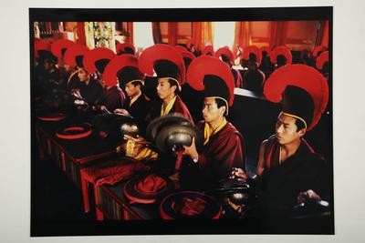 Assembly, Sakya Monastery, Rajpur, North India, 1994