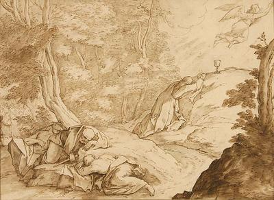 Bernadino Poccetti; Italian School; The Agony in the Garden; 17th Century; 1922/1/4