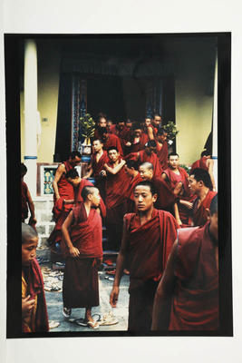 Assembly, Dhargye College, Drepung Monastery, South India, 1994