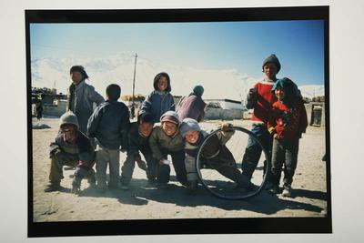 Children at Choglamsar Refugee Camp, Ladakh, 1995