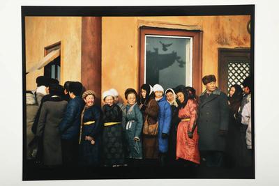 Public worshipers, Ganden Monastery, Mongolia, 1992