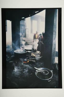 Kitchen area, Drepung Monastery, south India, 1994